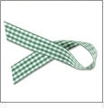 "Gingham Forest Green and White Ribbon - 7/8"" x 1 Yard"