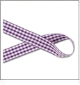"Gingham Purple and White Ribbon - 7/8"" x 1 Yard"
