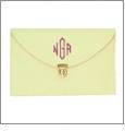 Leatherette Envelope Clutch Purse Embroidery Blank With Detachable Gold Shoulder Chain - IVORY