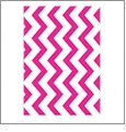 Chevron Horizontal HOT PINK - QuickStitch Embroidery Paper - One 8.5in x 11in Sheet