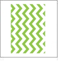 Chevron Horizontal LIME - QuickStitch Embroidery Paper - One 8.5in x 11in Sheet - CLOSEOUT