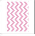 Chevron Horizontal LIGHT PINK - QuickStitch Embroidery Paper - One 8.5in x 11in Sheet