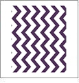Chevron Horizontal DARK PURPLE - QuickStitch Embroidery Paper - One 8.5in x 11in Sheet - CLOSEOUT