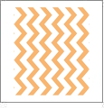 Chevron Horizontal TANGERINE - QuickStitch Embroidery Paper - One 8.5in x 11in Sheet