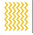 Chevron Horizontal GOLDENROD - QuickStitch Embroidery Paper - One 8.5in x 11in Sheet