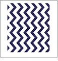 Chevron Horizontal DARK BLUE - QuickStitch Embroidery Paper - One 8.5in x 11in Sheet