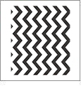Chevron Horizontal BLACK - QuickStitch Embroidery Paper - One 8.5in x 11in Sheet