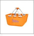 Mini Foldable Market Tote Embroidery Blanks - ORANGE