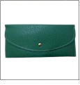 Leatherette Envelope Pocketbook Wallet Embroidery Blank - Kelly Green