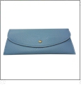 Leatherette Envelope Pocketbook Wallet Embroidery Blank - Light Blue