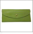 Leatherette Envelope Pocketbook Wallet Embroidery Blank - Lime