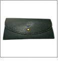 Leatherette Envelope Pocketbook Wallet Embroidery Blank - Black