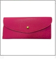 Leatherette Envelope Pocketbook Wallet Embroidery Blank - Hot Pink