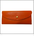 Leatherette Envelope Pocketbook Wallet Embroidery Blank - Orange