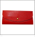Leatherette Envelope Pocketbook Wallet Embroidery Blank - Red