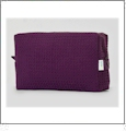 Large Cotton Waffle Cosmetic Bag Embroidery Blanks - PLUM