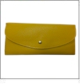 Leatherette Envelope Pocketbook Wallet Embroidery Blank - Yellow