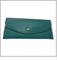Leatherette Envelope Pocketbook Wallet Embroidery Blank - Tropical Blue
