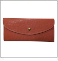 Leatherette Envelope Pocketbook Wallet Embroidery Blank - Salmon
