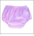 Small Print Chevron Diaper Cover - LIGHT PINK