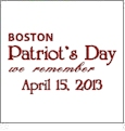 Boston Patriot's Day - We Remember April 15 2013 - Free Embroidery Design from Sewforless.com #PrayForBoston