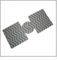 Unsewn 12oz Can Coolie Embroidery Blanks - LIGHT GRAY CHEVRON - CLOSEOUT