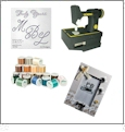 Multi-Color Thread Kit, OESD Monogram Font, Sewing Frame & Vintage Sewing Machine USB Stick - Mother's Day SUPER COMBO