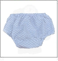 Small Print Chevron Diaper Cover - GRAY