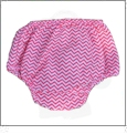 Small Print Chevron Diaper Cover - HOT PINK