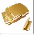 Miltary-Style Belt Buckle & Belt Tip - GOLD
