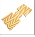 Unsewn 12oz Can Coolie Embroidery Blanks - GOLDENROD CHEVRON - CLOSEOUT