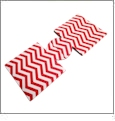 Unsewn 12oz Can Coolie Embroidery Blanks - RED CHEVRON - CLOSEOUT