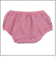 Small Print Chevron Diaper Cover - RED