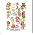 Hu LaLa! by Loralie Designs Embroidery Designs on a Multi-Format CD-ROM 630-117