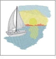 Sailboats Mini Collection of Embroidery Designs by Dakota Collectibles on a CD-ROM 970530