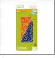"AccuQuilt GO! Half Rectangle Triangle - 3"" x 6"" Finished Rectangle - 55411"