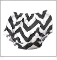 Chevron Diaper Cover - BLACK