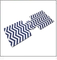 Unsewn 12oz Can Koozie Embroidery Blanks - NAVY CHEVRON
