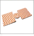 Unsewn 12oz Can Coolie  Embroidery Blanks - DEEP ORANGE CHEVRON - CLOSEOUT