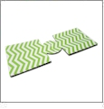 Unsewn 12oz Can Coolie Embroidery Blanks - LIME GREEN CHEVRON - CLOSEOUT