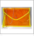 Swimsuit Clutch Embroidery Blank - Orange With Yellow Trim - CLOSEOUT