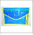 Swimsuit  Purse Embroidery Blank - Blue With Yellow Trim - CLOSEOUT