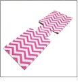 Unsewn 20 Ounce Water Bottle & 24 Ounce Can Koozie Embroidery Blanks - HOT PINK CHEVRON