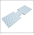 Unsewn 20 Ounce Water Bottle & 24 Ounce Can Koozie Embroidery Blanks - AQUA CHEVRON
