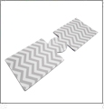 Unsewn 20 Ounce Water Bottle & 24 Ounce Can Koozie Embroidery Blanks - LIGHT GRAY CHEVRON