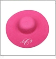 Wide Brim Floppy Hat Embroidery Blanks - HOT PINK