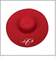 Wide Brim Floppy Hat Embroidery Blanks - RED