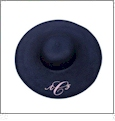 Wide Brim Floppy Hat Embroidery Blanks - NAVY