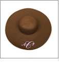 Wide Brim Floppy Hat Embroidery Blanks - BROWN