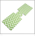 Unsewn 20 Ounce Water Bottle & 24 Ounce Can Koozie Embroidery Blanks - LIME GREEN CHEVRON